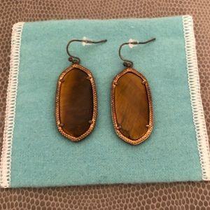 Kendra Scott - Elle Earrings in Brown & Gold